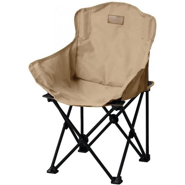 アウトドア チェア ローチェア ベージュ 子供用 HUGELヒューゲル CCM-LOW コンパクト収納 深く座れる 丈夫 おしゃれ キャンプ 椅子 イス アイリスオーヤマ