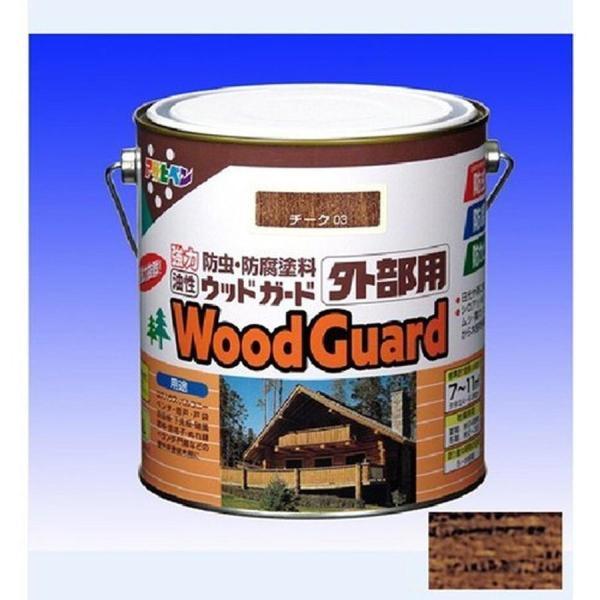 アサヒペン 油性ウッドガード 外部用 1.6L ウォルナット 11
