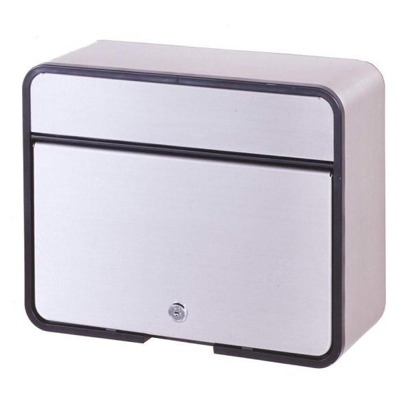 グリーンライフ(GREEN LIFE) 郵便ポスト ステンレスポスト カムロック錠 A4封筒が入る 15.0×30.0×37.5cm PH-58P