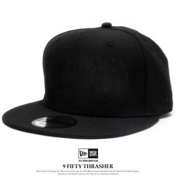89aaf16c765a3 ニューエラ コラボ キャップ 帽子 NEW ERA 9FIFTY THRASHER スラッシャー ファイアーロゴ ブラック|dance3 ...