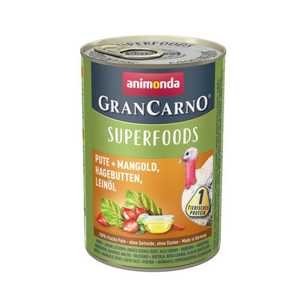 [82438] アニモンダ グランカルノ ウェット スーパーフード アダルト 七面鳥・フダンソウ・ローズヒップ・アマニオイル 400g ドッグフード  ウェット 缶詰