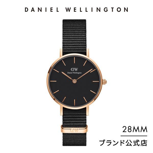 ダニエルウェリントンレディース腕時計PetiteCornwallBlack28mmNatoストラップクラシックぺティートコーンウ