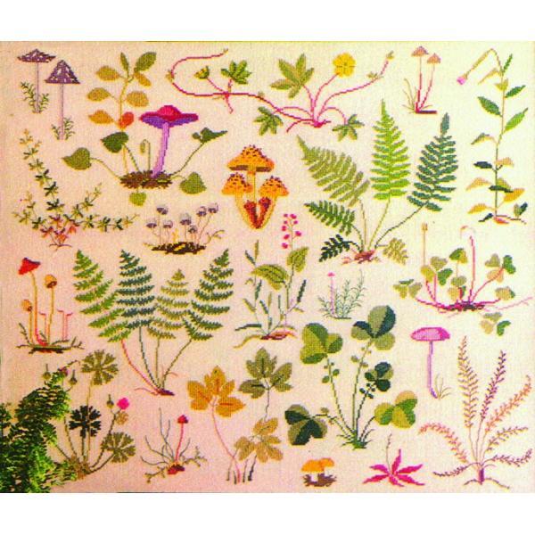 フレメ クロスステッチ 刺繍キット 【きのこ】 野の花 デンマーク 輸入ししゅうキット