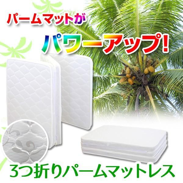 天然ココナッツパームマット 4色対応 3つ折り 三つ折り 一体式 ヤシ ベッド ベット 2段 二段 ロフト システム 三段 3段 子供用|danketuhl|02
