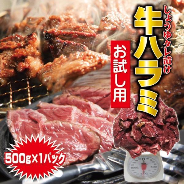 味付牛ハラミ 500g冷凍品(500g×1袋) サガリ バーベキュー  焼肉 ホルモン
