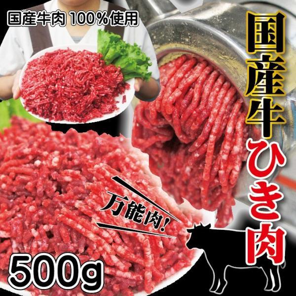 牛肉ひき肉国産100% 500g入 冷凍  パラパラミンチではありませんが格安商品 男しゃく ひき肉 100g当/119.8円+税  挽肉 挽き肉 牛ミンチ 牛ひき肉 牛挽肉