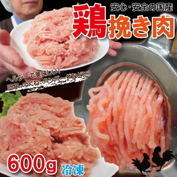 国産鶏ひき肉 600g 冷凍 国産鶏肉100%使用 鶏肉 鶏挽肉 ミンチ むね肉 ムネ肉
