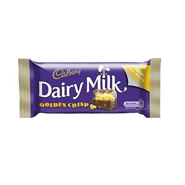 Cadburys Dairy Milk Golden Crisp Standard Bar (Irish) - 49g (Pack of 6) -|dansyakudou