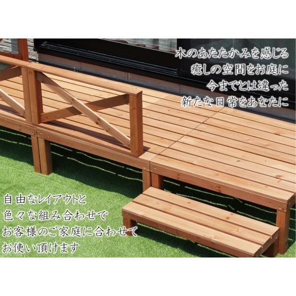 天然木ウッドデッキ ウッドデッキ  6点セット 0.50坪 天然木製 縁台 バルコニー  DIY   |dantotsu-online|02