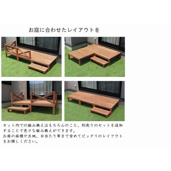天然木ウッドデッキ ウッドデッキ  6点セット 0.50坪 天然木製 縁台 バルコニー  DIY   |dantotsu-online|05