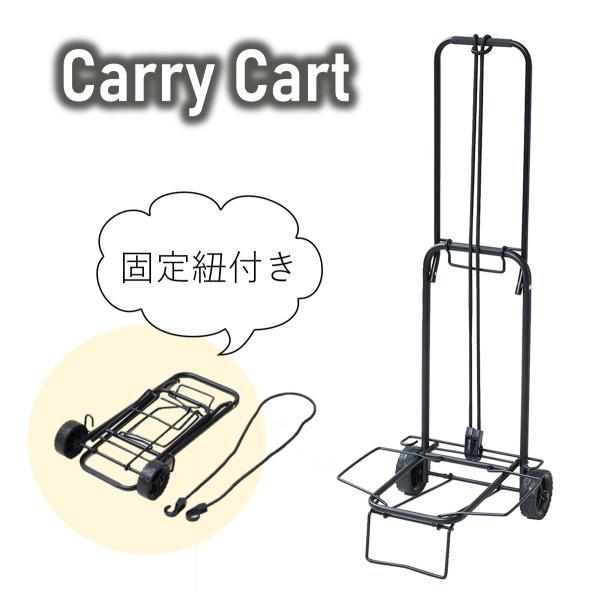 キャリーカート 折りたたみ 軽量 アウトドア 釣り 引っ越し 重量物 運搬台車 頑丈 台車 ハンドキャリー 固定用ロープ付き
