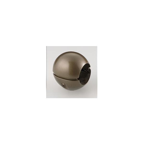 【送料無料】〔10個セット〕階段手すり滑り止め 『どこでもグリップ』ボール形 亜鉛合金 直径38mm アンバー シロクマ 日本製