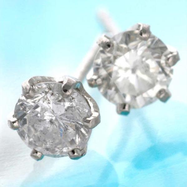 【送料無料】0.5ct ダイヤモンドピアス プラチナピアス
