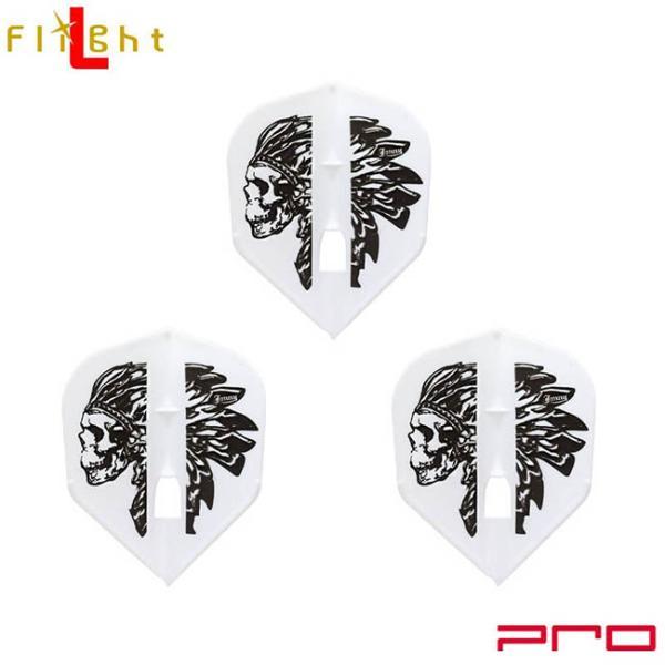 L-style(エルスタイル) L-Flight PRO(エルフライト プロ) Jonny Ver.1 シェイプ ホワイト 安食賢一選手モデル (ダーツ フライト)
