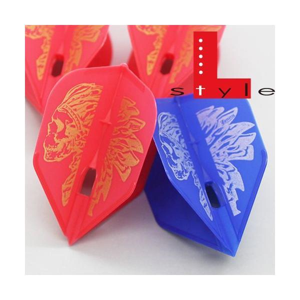 ダーツフライト フライトL シャンパンJONNY Ver.1安食賢一 レッド・ブルー・ゴールド (ポスト便OK/3トリ)