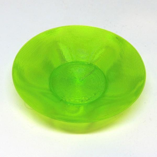 3Dデザイン豆皿 小皿 クリアで輝くかる〜い豆皿 (らせん 3D 印刷で造形,クリアな緑・青・黄・赤,直径 7 cm.送料 120 円)|dasyn|05