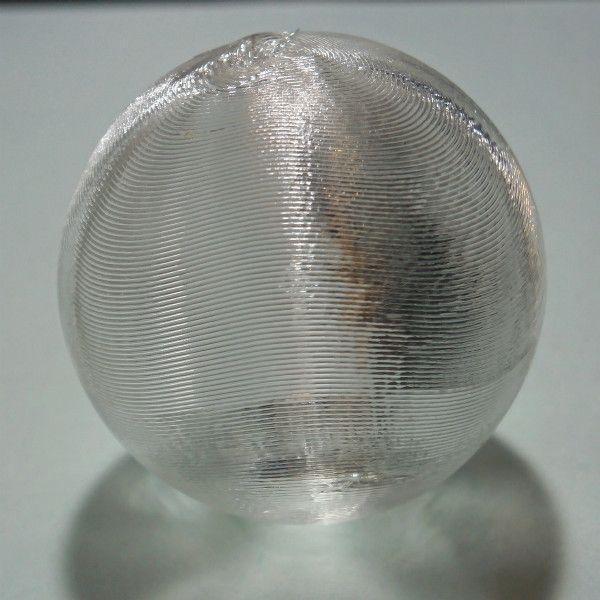 3Dデザイン 小形中空球 (ピアスなどのアクセサリに,手芸材料 パーツ,3D 印刷,透明,直径 5 cm,約 5 グラム)
