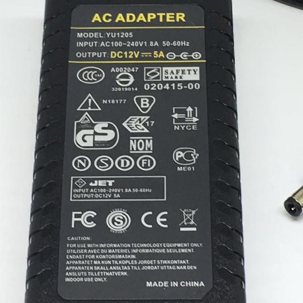 LED電源部品  12V 5A (AC アダプター, 5 アンペア,テープライト等の LED 照明器具用, 3A, 4A用にも! 送料 120 円) dasyn 02