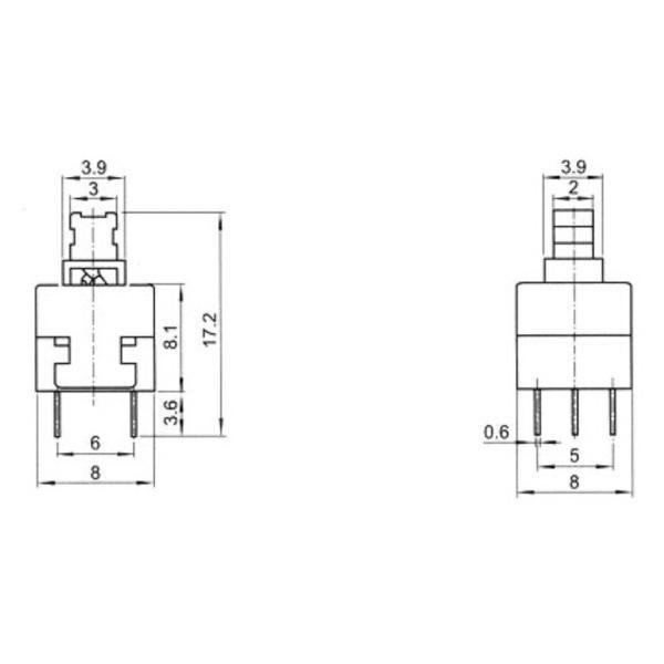 小型押しボタン・スイッチ (プッシュロック・スイッチ) dasyn 03