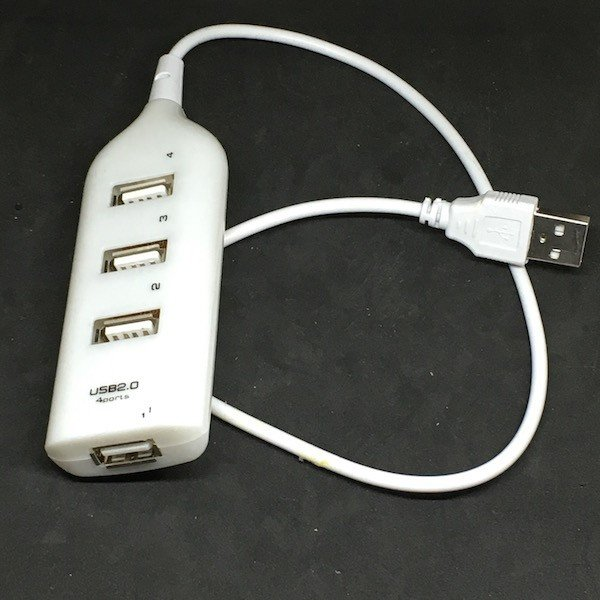 USBハブ 電源タップのような 4 ポート 白色 (小電流専用!)|dasyn
