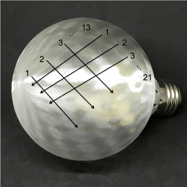 LED電球 直径 9 cm フィボナッチ模様つきボールランプ (4 W 400 ルーメン 電球色 口金 E26 LED 3D デザイン電球,白熱灯 30 W 相当,インテリア照明用)|dasyn|06