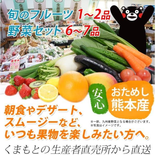 熊本産  フルーツセット ( 旬の果物と野菜セット ) クール便 送料無料  ( 野菜 果物 盛り合わせ 九州 熊本 ギフト 母の日 父の日 お中元 お歳暮 )|datsu808|02