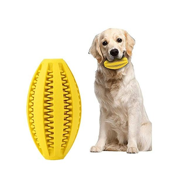 犬噛むおもちゃ 歯磨きデンタル玩具 餌入り可能 丈夫耐久性 ストレス解消用品 ボール知育トイ 運動不足解消|days-of-magic
