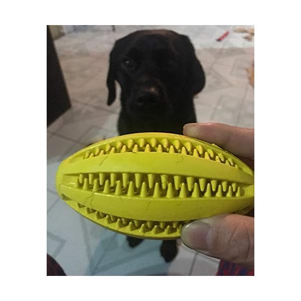 犬噛むおもちゃ 歯磨きデンタル玩具 餌入り可能 丈夫耐久性 ストレス解消用品 ボール知育トイ 運動不足解消|days-of-magic|07
