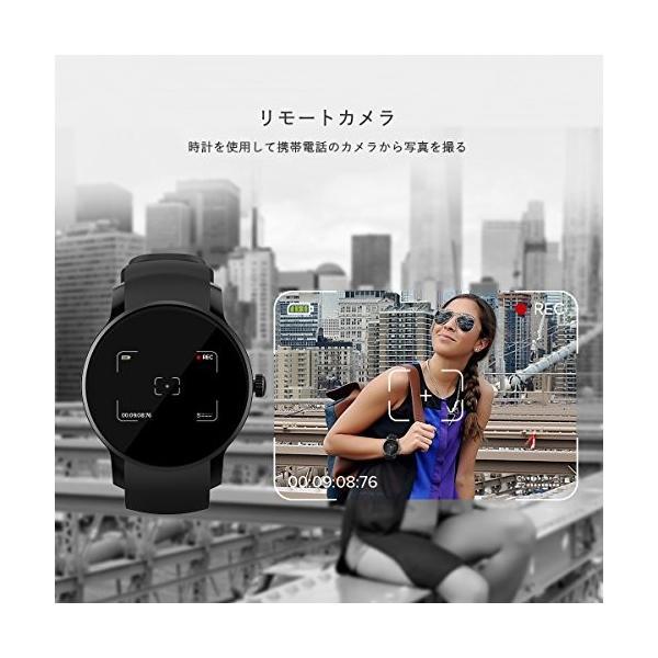 最新発売 日本語対応 文字化けなし SMAWATCH 最新スマートウォッチ 腕時計 多機能 1.22インチIPSフルビュータッチ|days-of-magic|03