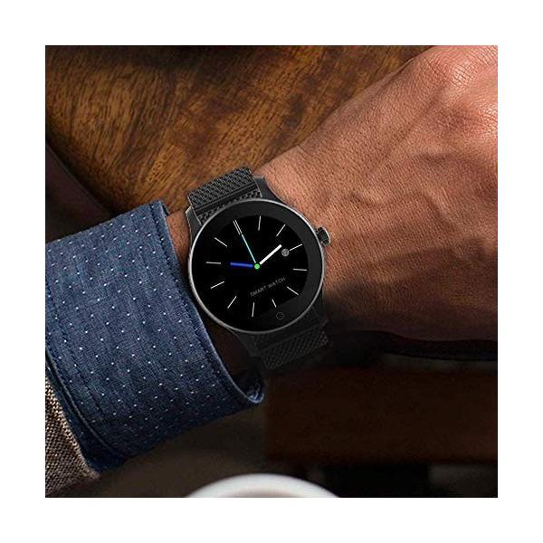 最新発売 日本語対応 文字化けなし SMAWATCH 最新スマートウォッチ 腕時計 多機能 1.22インチIPSフルビュータッチ|days-of-magic|07