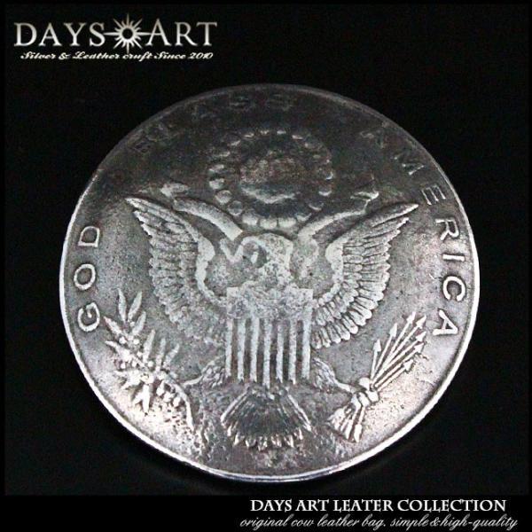 コンチョ ネジ式 ピューター製コイン アメリカ1ドルレプリカ硬貨 ギフト