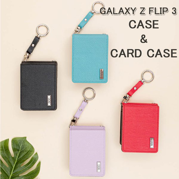 Galaxy Z Flip 3 ギャラクシーzフリップ3 ストラップ付き カードケース付き ケース SC-54B SCG12 お洒落上品 ギャラクシーz3 フリップ 5G ケースカバー