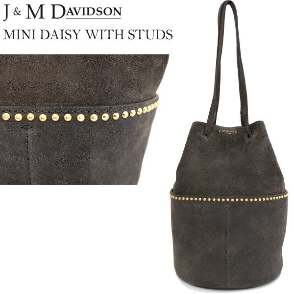 J&M DAVIDSON ミニデイジーウィズスタッズ スウェードレザー MINI DAISY WITH STUDS ALL SUEDE gold fitting 1428g/7440 daytripper