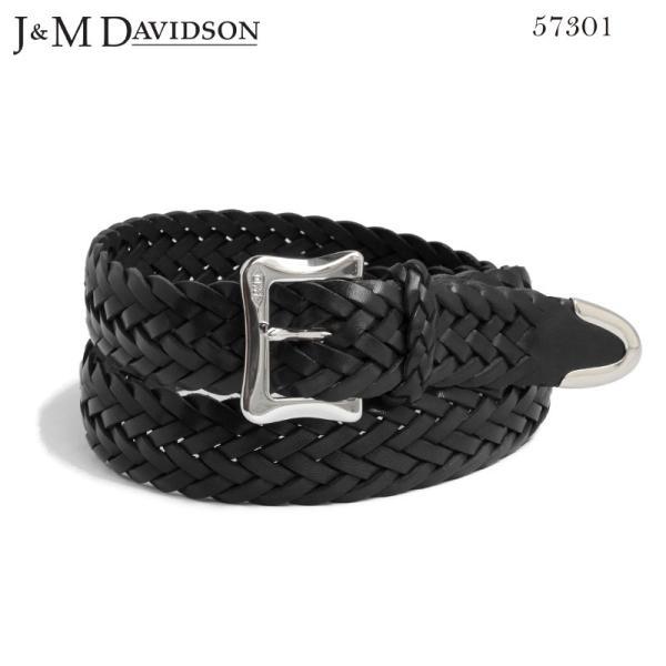 J&M DAVIDSON メッシュベルト BLACK ブラック エンベロープバックル ティップエンド30mm レザー ENVELOPE BUCKLE TIP END 30MM TIN PLATED BELT 57301 9990|daytripper