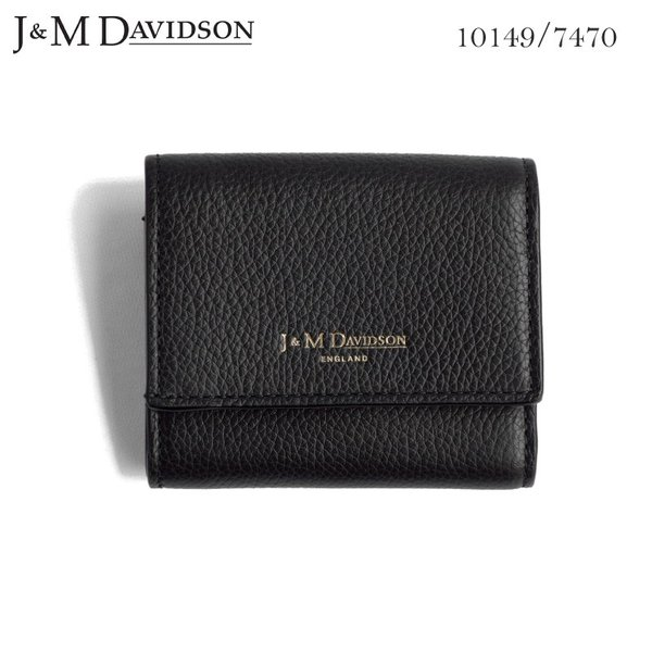 J&M DAVIDSON 小銭入れ付き 三つ折りサイフ 2 FOLD WALLET ジェイアンドエム デヴィッドソン SMALL GRAIN LEATHER 10149 7470 9990|daytripper