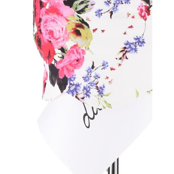 ドレス キャバドレス 大きいサイズ S M L LL 立体フラワー ビビッド 花柄 ペプラム タイト ミニドレス dazzy dazzy 14