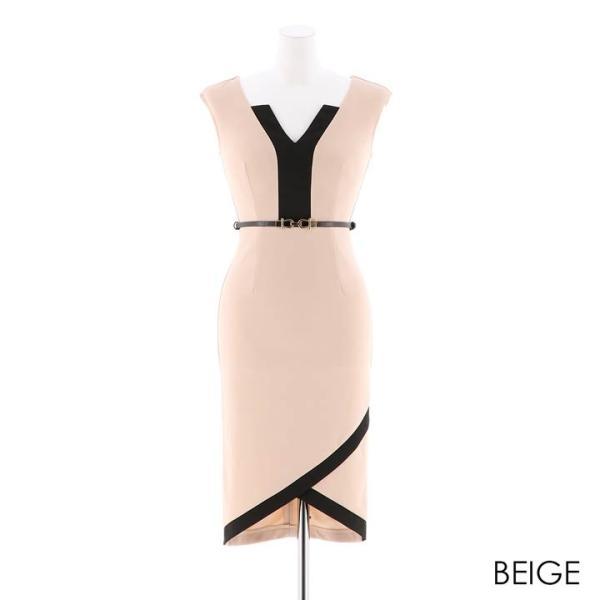 ドレス キャバ ラップ 風 バイカラー 膝丈 タイト ドレス  ドレス ワンピース 膝丈ドレス セクシー ナイトドレス キャバ ドレス キャバ ワ|dazzy|13