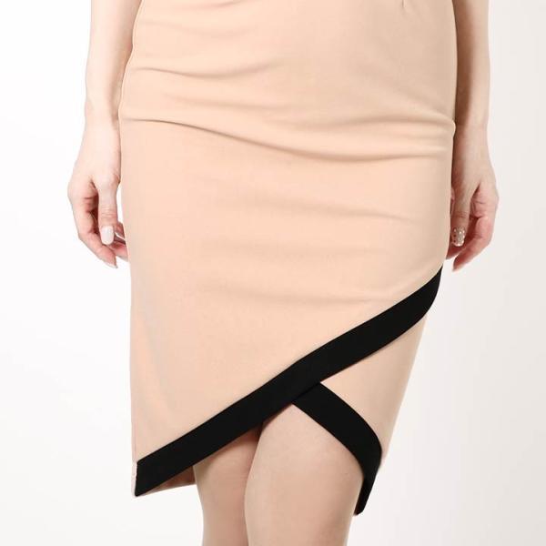 ドレス キャバ ラップ 風 バイカラー 膝丈 タイト ドレス  ドレス ワンピース 膝丈ドレス セクシー ナイトドレス キャバ ドレス キャバ ワ|dazzy|07