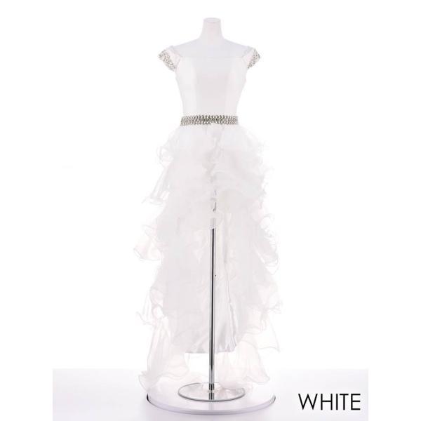 AngelR キャバ ドレス キャバドレス ナイトドレス ボリュームフリルオフショルダー前ミニロングドレス ドレス 二次会 花嫁 誕生日 バース|dazzy|11