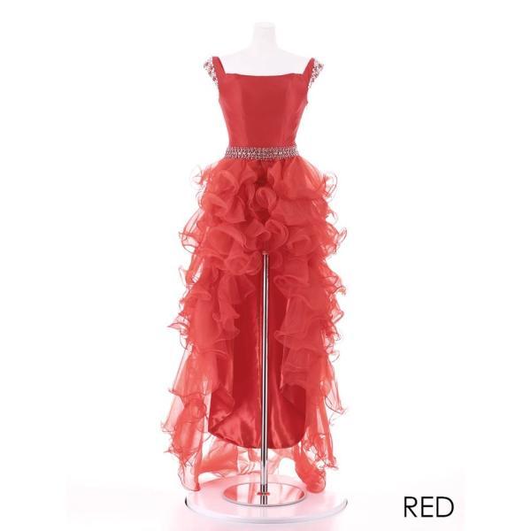 AngelR キャバ ドレス キャバドレス ナイトドレス ボリュームフリルオフショルダー前ミニロングドレス ドレス 二次会 花嫁 誕生日 バース|dazzy|13