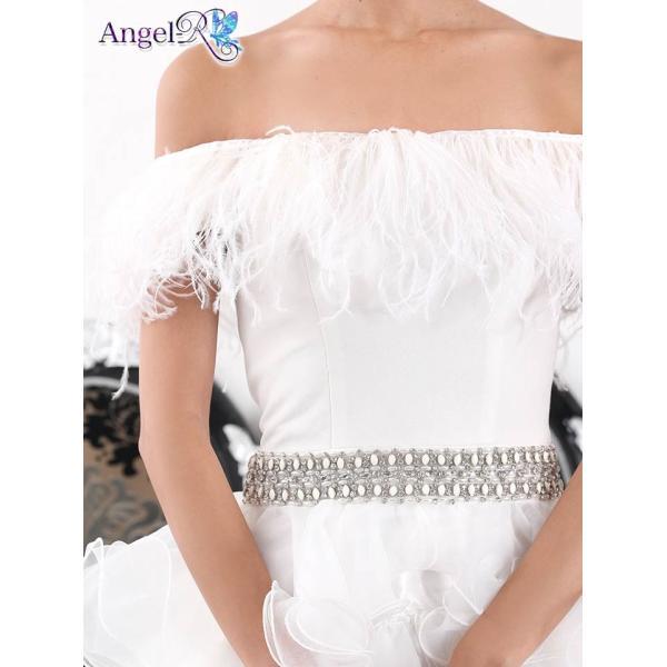 AngelR キャバ ドレス キャバドレス ナイトドレス ボリュームフリルオフショルダー前ミニロングドレス ドレス 二次会 花嫁 誕生日 バース|dazzy|06