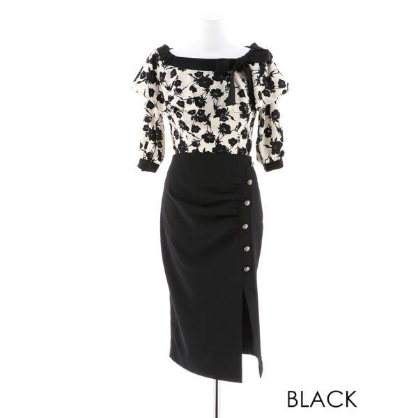 キャバ ドレス キャバドレス ワンピース ナイトドレス 大きいサイズ S M L 藤井リナ 2ピース フラワーオフショルタイト ミニドレス 赤 dazzy 05