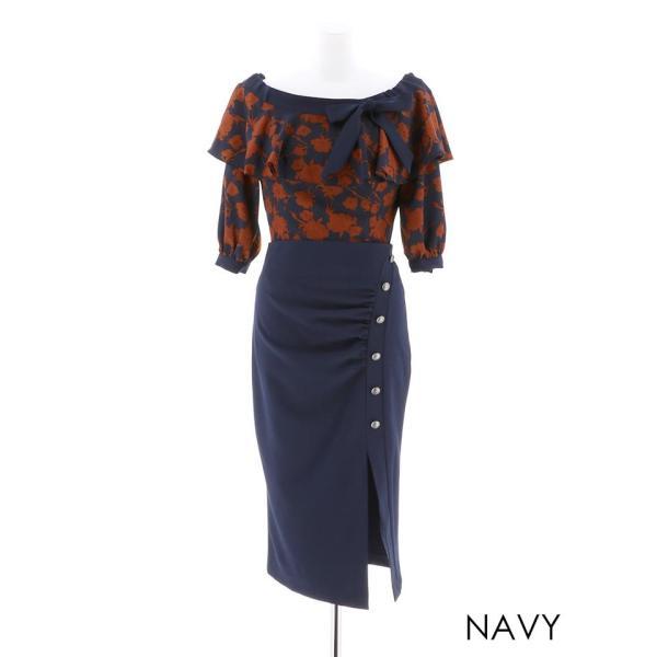 キャバ ドレス キャバドレス ワンピース ナイトドレス 大きいサイズ S M L 藤井リナ 2ピース フラワーオフショルタイト ミニドレス 赤 dazzy 07