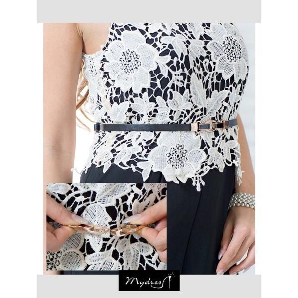 キャバ ドレス ミニ キャバドレス ワンピース ナイトドレス mydress レース オールインワン ロング パン|dazzy|11