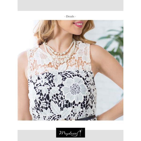キャバ ドレス ミニ キャバドレス ワンピース ナイトドレス mydress レース オールインワン ロング パン|dazzy|10