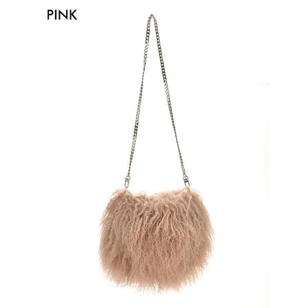 ショルダーバッグ 2way ウールファーバッグ ピンク カーキ シンプル 無地 バッグ ハンドバッグ カバン 鞄 バック BAG goods da