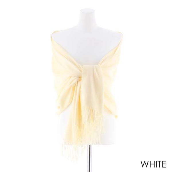 ドレス 結婚式 パーティードレス シンプル 大判 ストール 黒 白 グレー ピンク シンプル 無地 杉山佳那恵 羽|dazzy|12