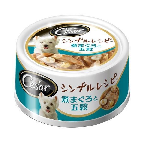 シーザー シーザー(缶) シンプルレシピ 煮まぐろと五穀/80g dcmonline