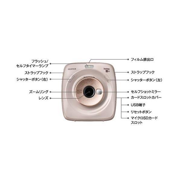 INSTAX インスタントカメラ スクエア/SQ20 ベージュ