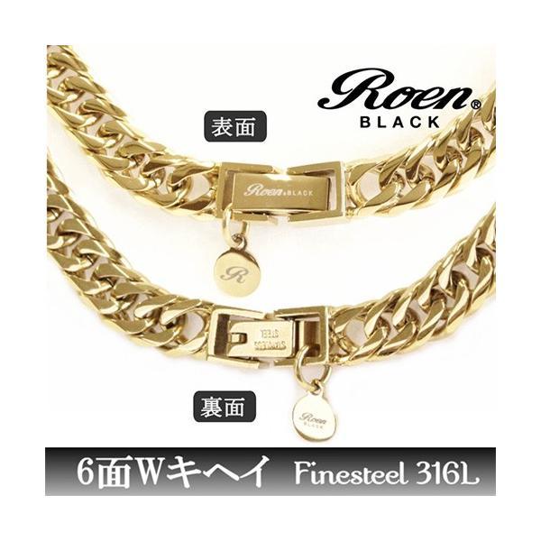 Roen Roen BLACK ロエン ブラック 喜平ネックレス 6面 ゴールド/RO-922